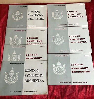 Collection Of  Vintage 1960's London Symphony Orchestra Programmes • 10£