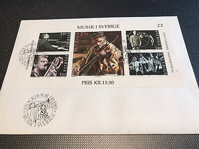 ABBA MUSIK I SVERIGE First Day Cover Stamps With Booklet Official Original • 9.99£