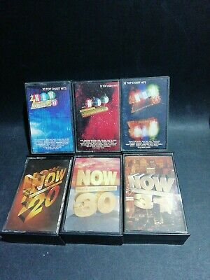 6x Now Music Cassette Tapes. • 15.99£