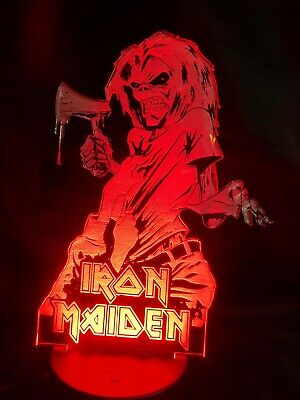 Iron Maiden Killers Acrylic Engraved Neon LED Lamp Night Light Man Cave  • 20£