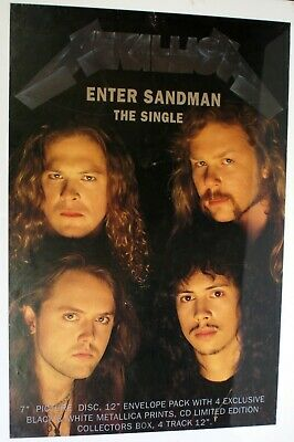 Metallica Poster Promo Enter Sandman UK 1991 • 125£