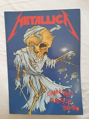 METALLICA - DAMAGED JUSTICE Official Tour Programme 1988-89 Very Good Condition • 17.99£