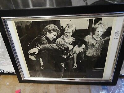 Sex Pistols 1976 Promo Picture Nice Rare Collectable Framed • 12£