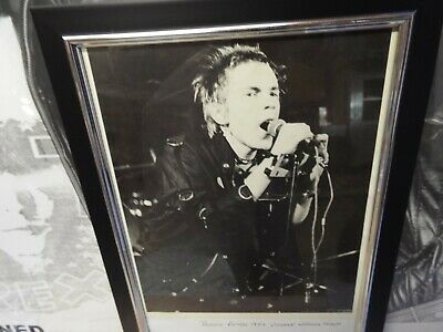 Sex Pistols 1976 Promo Picture Nice Rare Collectable Framed Johnny Rotten • 12£