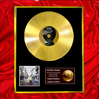 Oasis What's The Story Cd Gold Disc Award Display Vinyl Plated  • 160.95£