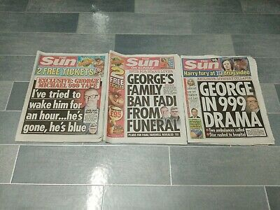 George Michael Death Newspapers Front Pages Articles Bundle  • 14.99£