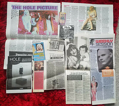 HOLE COURTNEY LOVE Music Rock Grunge Clippings Melody Maker Newspaper Articles • 1£