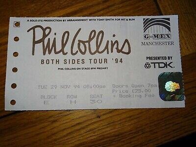 Ticket Phil Collins Both Sides Tour '94 Manchester GMEX Nov 29th 1994 • 3.75£