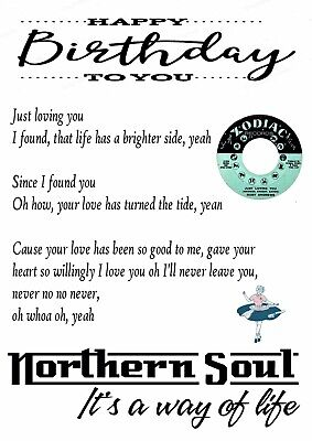 "Superb ""Iconic Just Loving You"" - Ruby Andrews Birthday Card - Northern Soul • 4£"