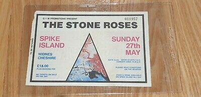 Stone Roses - Spike Island Concert Ticket - 27th May 1990 - Very Rare - Genuine • 69.99£