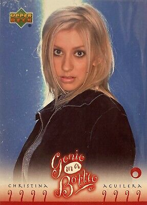Christina Aguilera Collectors Card #28 Of 45. 2000 Upper Deck Rare Genie In A Bo • 3.49£