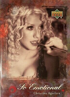 Christina Aguilera Collectors Card #42 Of 45. 2000 Upper Deck Rare So Emotional • 3.49£