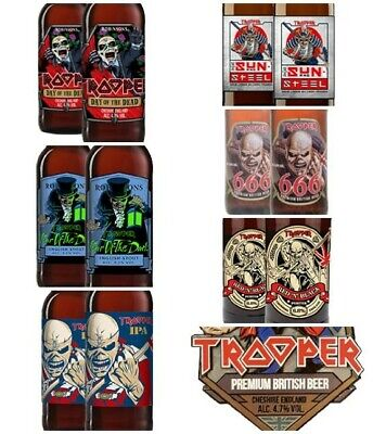 Iron Maiden Trooper Beer Day Of The Dead Ltd Editions 666 Etc. Robinson's NEW • 15.95£