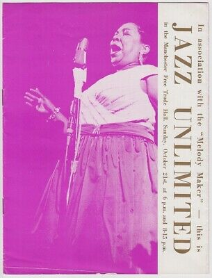 AMERICAN FOLK BLUES FESTIVAL 1962 UK Manchester Gig Program R&B John Lee Hooker  • 70£