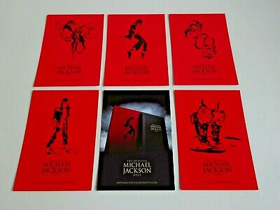 Michael Jackson - Full Set Of 6 Very Rare Promo Uk Postcards For 'official Opus' • 29.99£