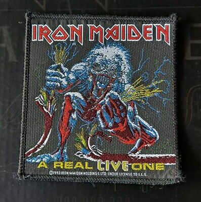 Iron Maiden Original Official VINTAGE PATCH A Real Live One VERY RARE!! Aufnäher • 34£