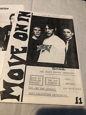 The Jam Move On In No 2 Plus Jam Tapes Collection Fanzines 1987 • 18£