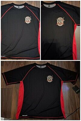 Iron Maiden Trooper Beer Red And Black Dry Wick T-shirt Polo Stay Cool NEW XL • 10£