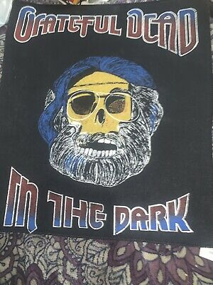 "Unused 1987 Grateful Dead Jerry Garcia In The Dark 12x13"" Back Patch Made In UK • 28.89£"