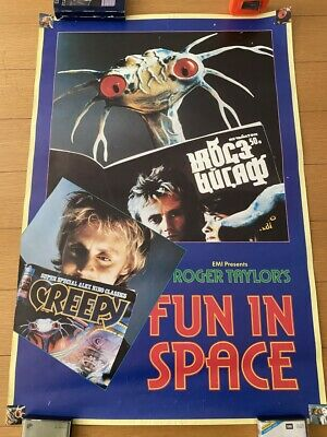 Queen Roger Taylor Fun In Space EMI Promo Poster • 100£