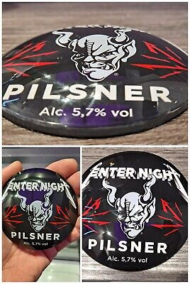 METALLICA Enter Night BEER Pilsner FISH EYE Lens Bar Tap FONT BADGE Unique NEW • 1£