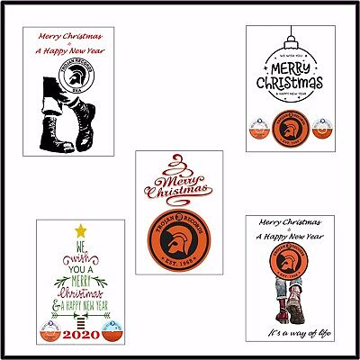 Superb & Unique Trojan Records Christmas Card Pack Of 5 Individual Designs • 10£