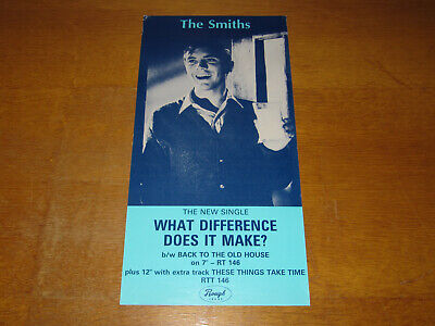 The Smiths - What Difference Does It Make? - Original 1984 Uk Promo Poster • 99£