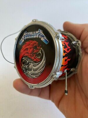 Metallica Lars Ulrich Drum Ornament 2.5  Christmas Ornament • 9.75£