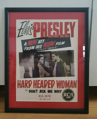 Elvis Presley Limited Edition Repro Of Rare RCA  Poster 1957 Size 16  X 12   • 9.99£