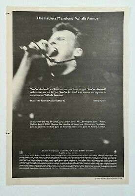 The Fatima Mansions (cathal Coghlan) - Valhalla Avenue - 1992 Lp/tour Nme Advert • 3.49£