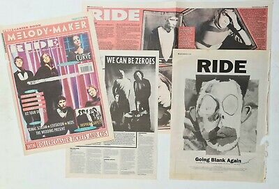 Ride - Original 1992 Colour Mm Cover, Interview And 'going Blank Again' Advert • 3.49£