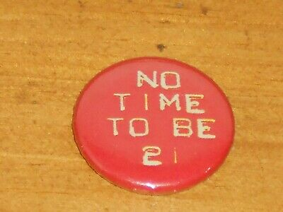 Rare Vintage 25mm The Adverts No Time To Be 21 New Wave Punk Rock Music Badge • 10£