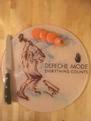 Depeche Mode  Glass Chopping Board 30cm  Everything Counts  • 14.99£