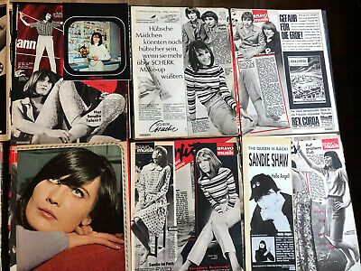 SANDIE SHAW 69 Great Rare Clippings/poster 60's • 8£