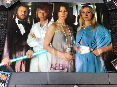 ABBA Original 1979 Voulez Vous Scandecor Poster Great Condition For Age Large • 29.99£