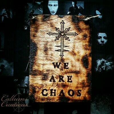 Marilyn Manson We Are Chaos Handmade Wooden Sign • 8£