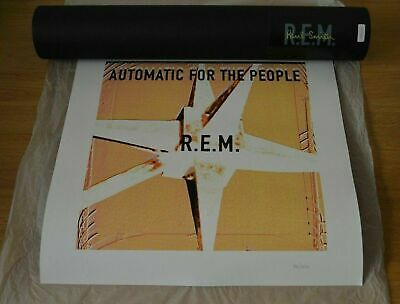 R.E.M. PAUL SMITH Automatic For The People Ltd Edition Screenprint REM Poster • 34.99£
