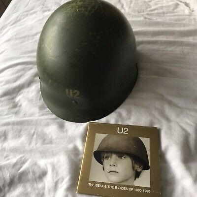 U2 The Best Of 1980 - 1990 Promo Helmet 150 Only & Double Cd Promo Very Rare • 250£