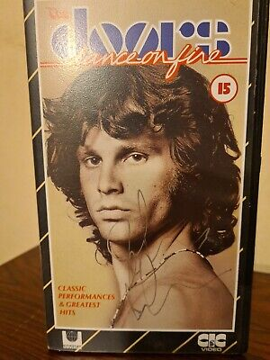 The Doors Signed John Densmore Dance On Fire VHS Music Video Genuine Autographed • 49.95£
