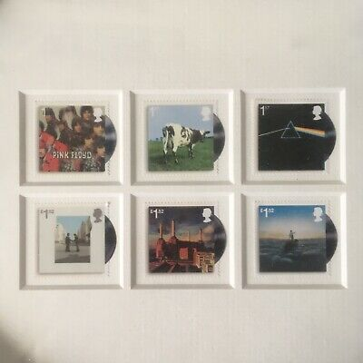 Framed PINK FLOYD Albums Stamps Collection - Great Birthday Gift  • 160£