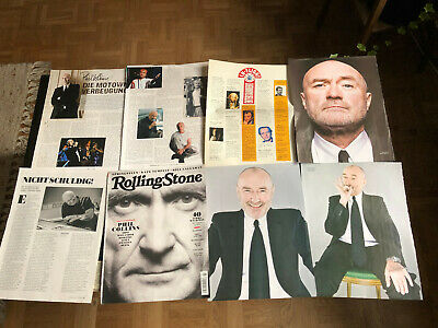 PHIL COLLINS GENESIS PETER GABRIEL STEVE HACKETT 60 Rare Clippings/poster  • 8£
