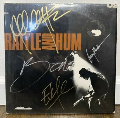U2 Signed LP Rattle And Hum By 4 Musicians 1988 • 109.28£