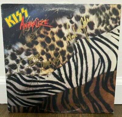 Kiss Signed LP Animalize 1984 By 4 Musicians • 121.49£