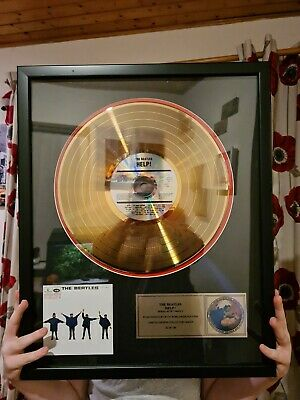 The Beatles Help Limited Edition Gold Disc • 50£
