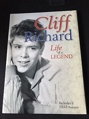 Cliff Richard Life Of A Legend Paperback Book And 6 Postcards • 3£