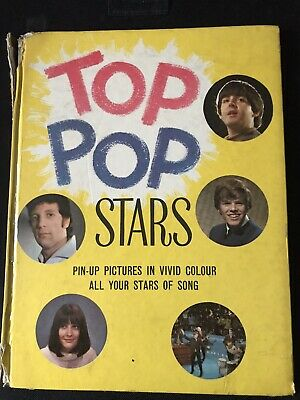 Top Pop Stars Hardback Book • 3£
