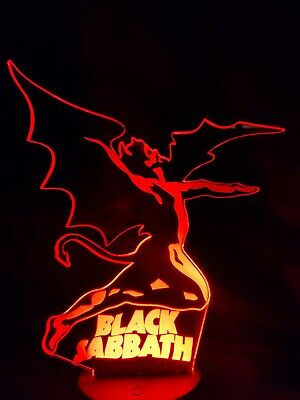 Black Sabbath Acrylic Engraved Neon LED Lamp Night Light  • 20£