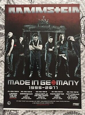 Rammstein - UK Tour February / March 2012 - Full Page Magazine Ad. • 1.25£