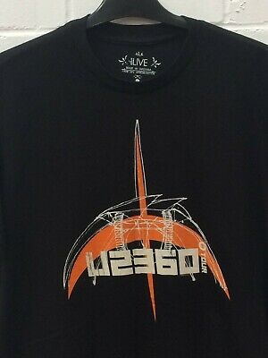 U2 360 Tour 2009 Black Graphic Print Short Sleeve Music T-Shirt Size Large • 6.99£