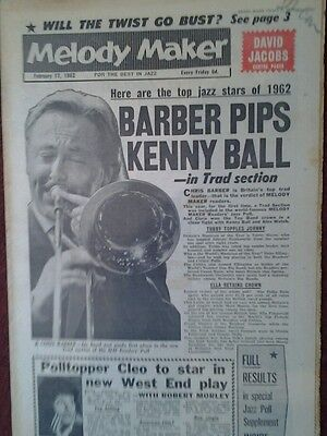 Melody  Maker 1962 - Readers Poll With 'Thanks From The Stars' • 9.99£